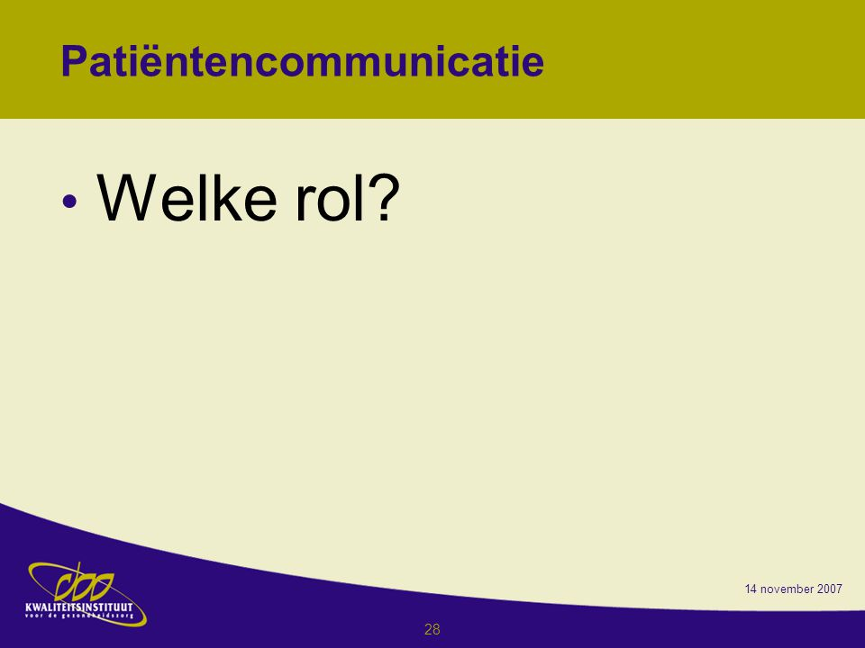 Patiëntencommunicatie
