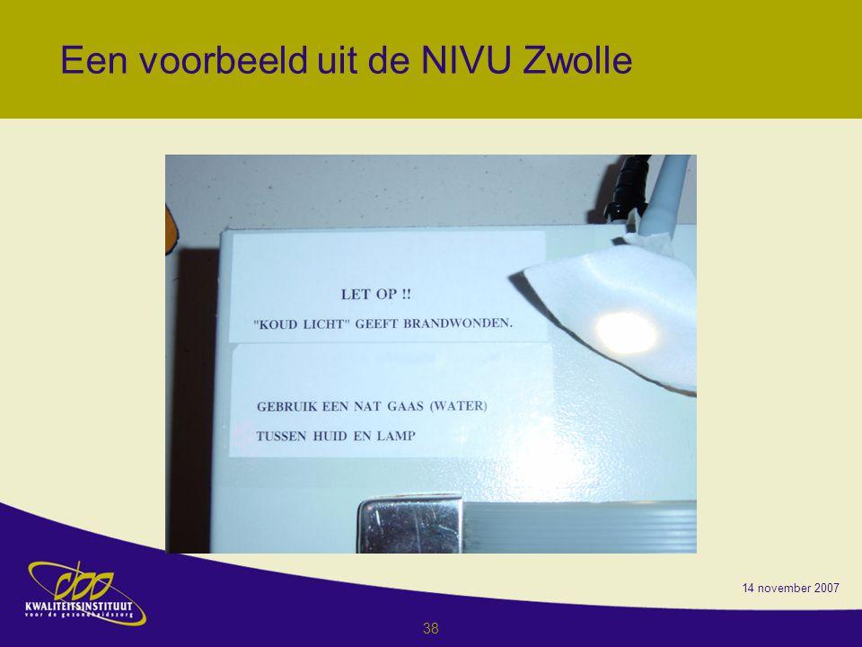 Een voorbeeld uit de NIVU Zwolle