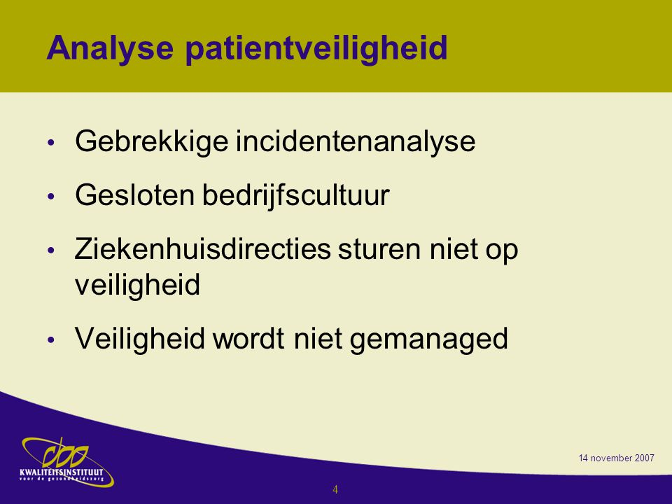 Analyse patientveiligheid