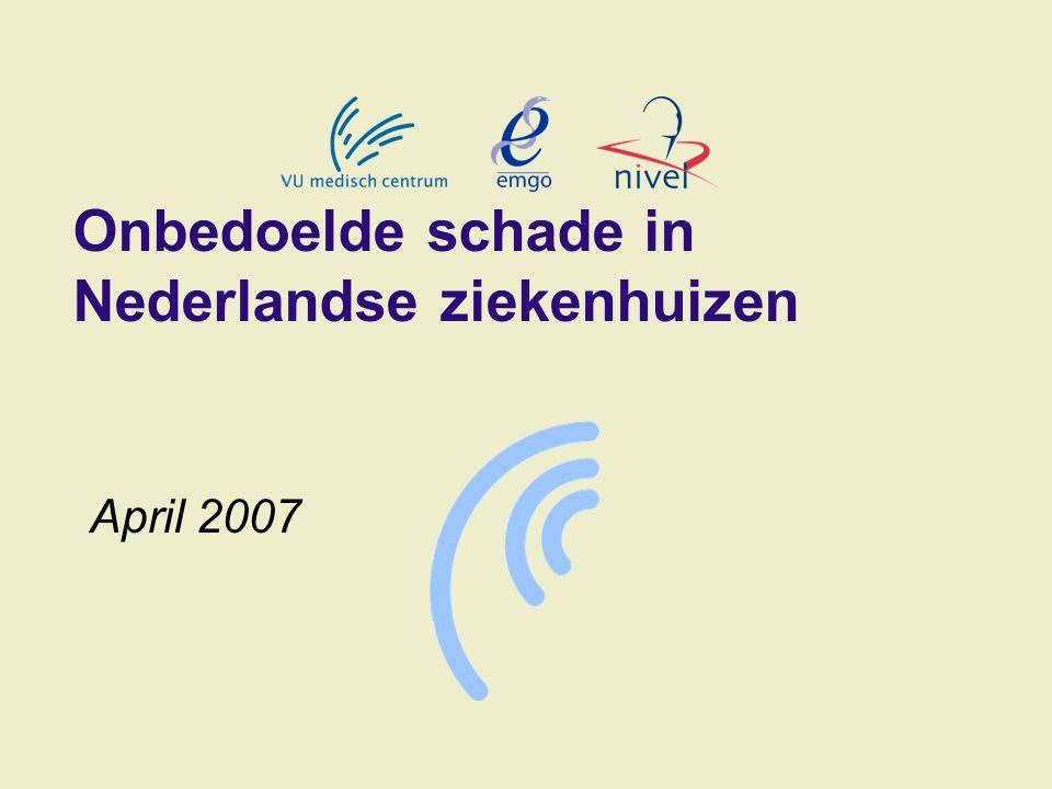Onbedoelde schade in Nederlandse ziekenhuizen