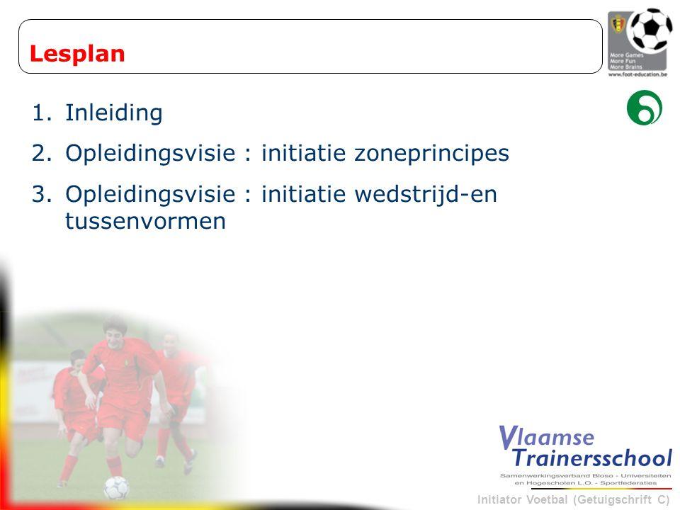 Lesplan Inleiding. Opleidingsvisie : initiatie zoneprincipes.