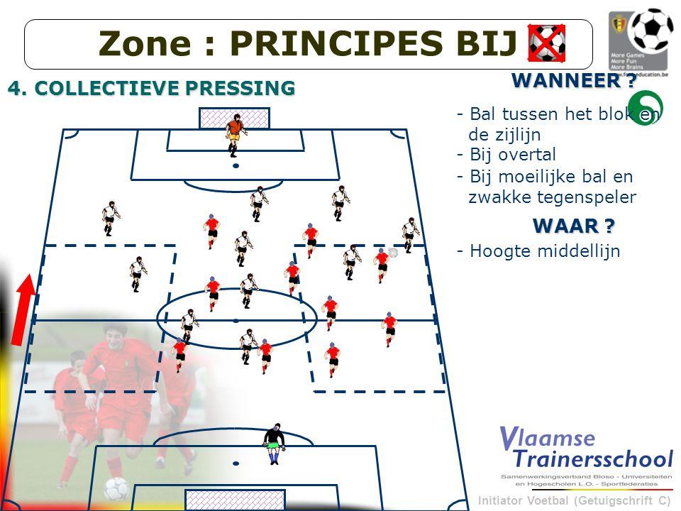 Zone : PRINCIPES BIJ WANNEER 4. COLLECTIEVE PRESSING WAAR