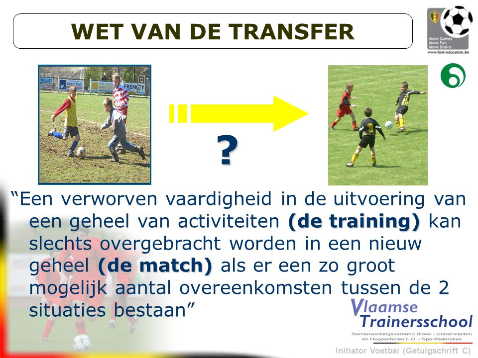 WET VAN DE TRANSFER