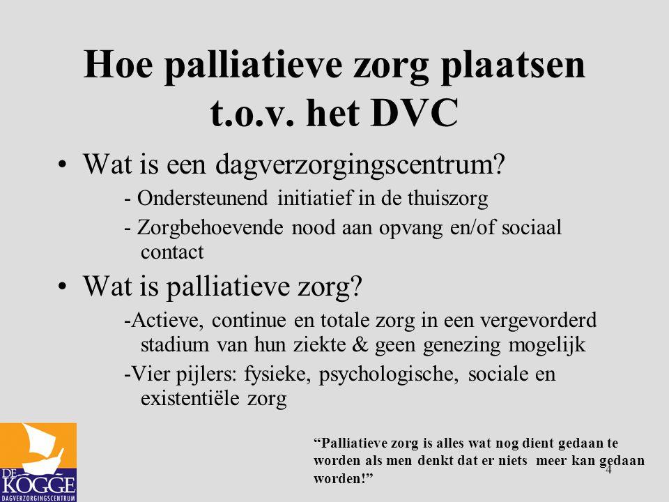 Hoe palliatieve zorg plaatsen t.o.v. het DVC
