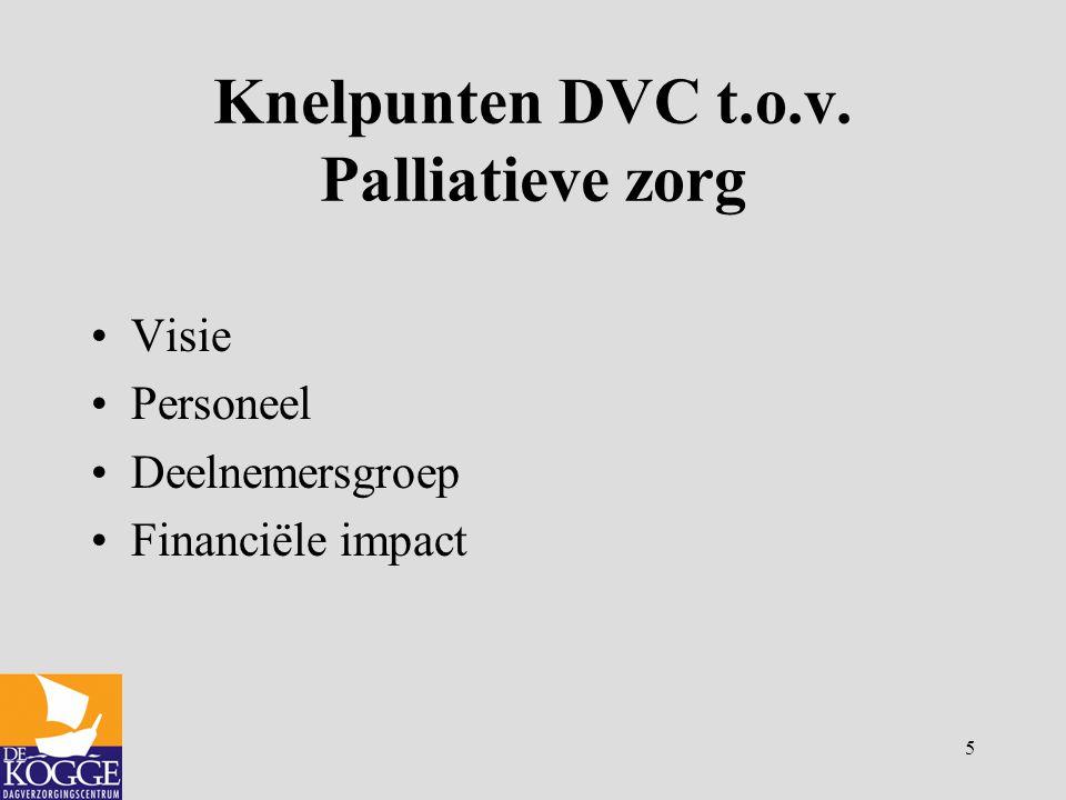 Knelpunten DVC t.o.v. Palliatieve zorg