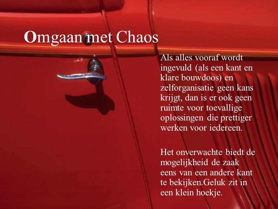 Omgaan met Chaos