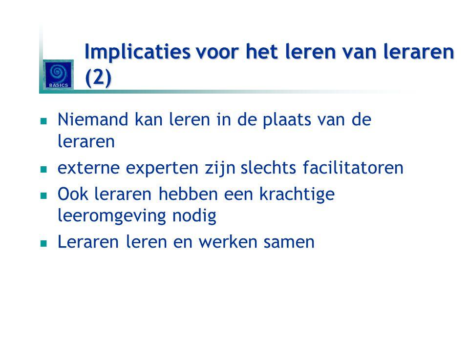 Implicaties voor het leren van leraren (2)
