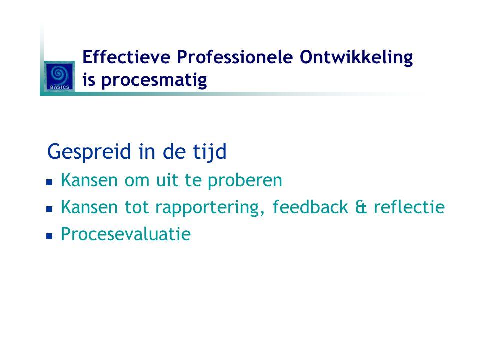 Effectieve Professionele Ontwikkeling is procesmatig