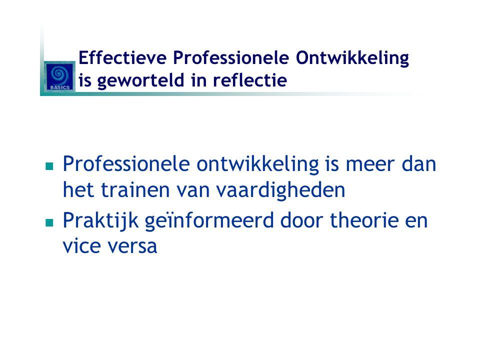 Effectieve Professionele Ontwikkeling is geworteld in reflectie