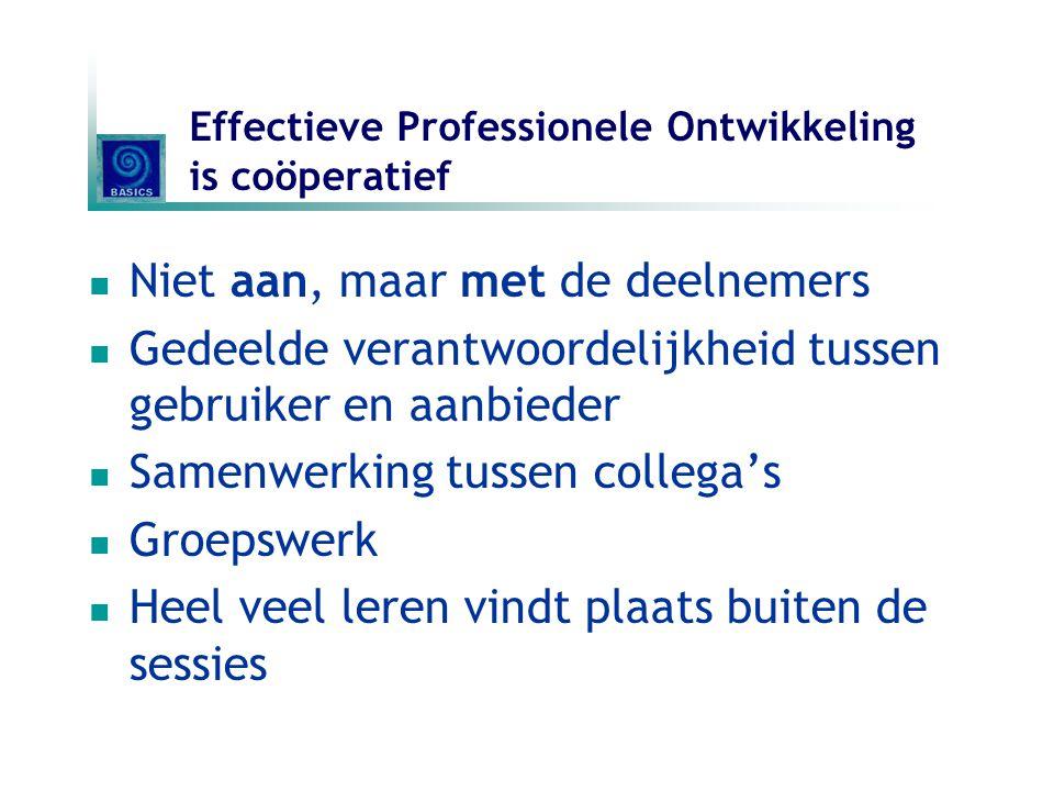 Effectieve Professionele Ontwikkeling is coöperatief