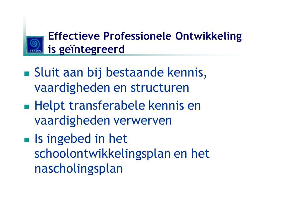 Effectieve Professionele Ontwikkeling is geïntegreerd