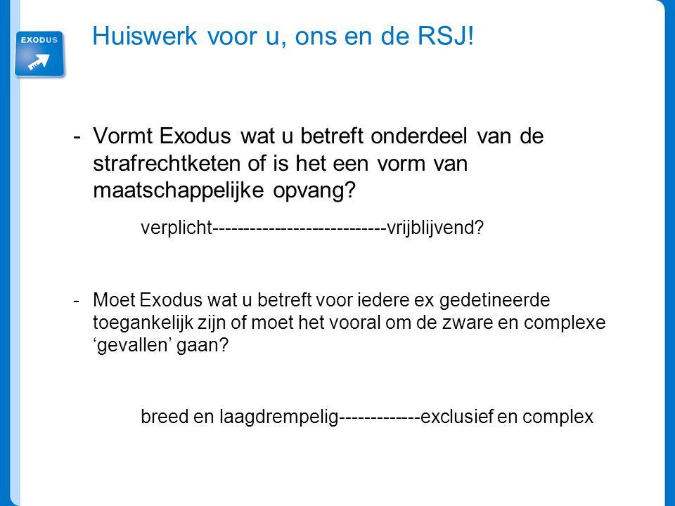 Huiswerk voor u, ons en de RSJ!