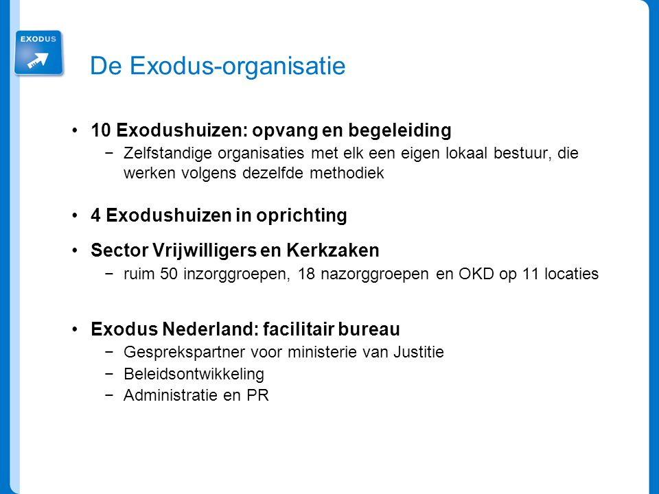 De Exodus-organisatie