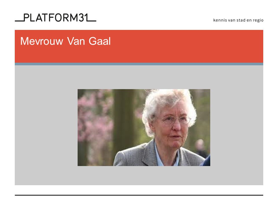 Mevrouw Van Gaal