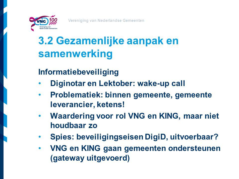 3.2 Gezamenlijke aanpak en samenwerking