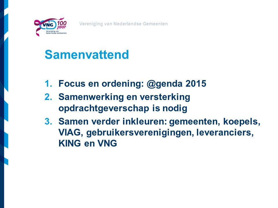 Samenvattend Focus en ordening: @genda 2015