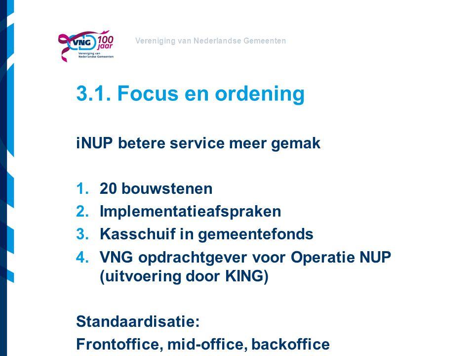 3.1. Focus en ordening iNUP betere service meer gemak 20 bouwstenen