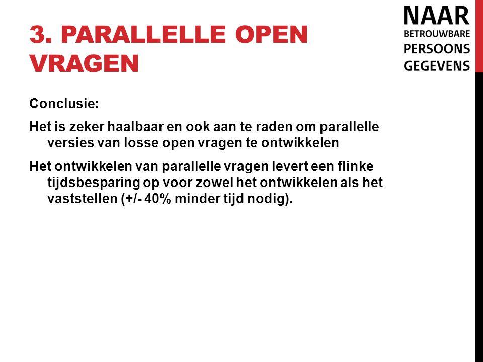 3. Parallelle open vragen