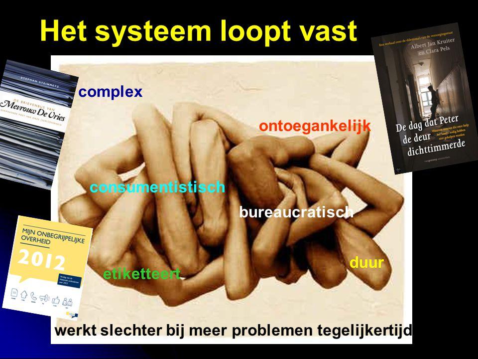 Het systeem loopt vast complex ontoegankelijk consumentistisch