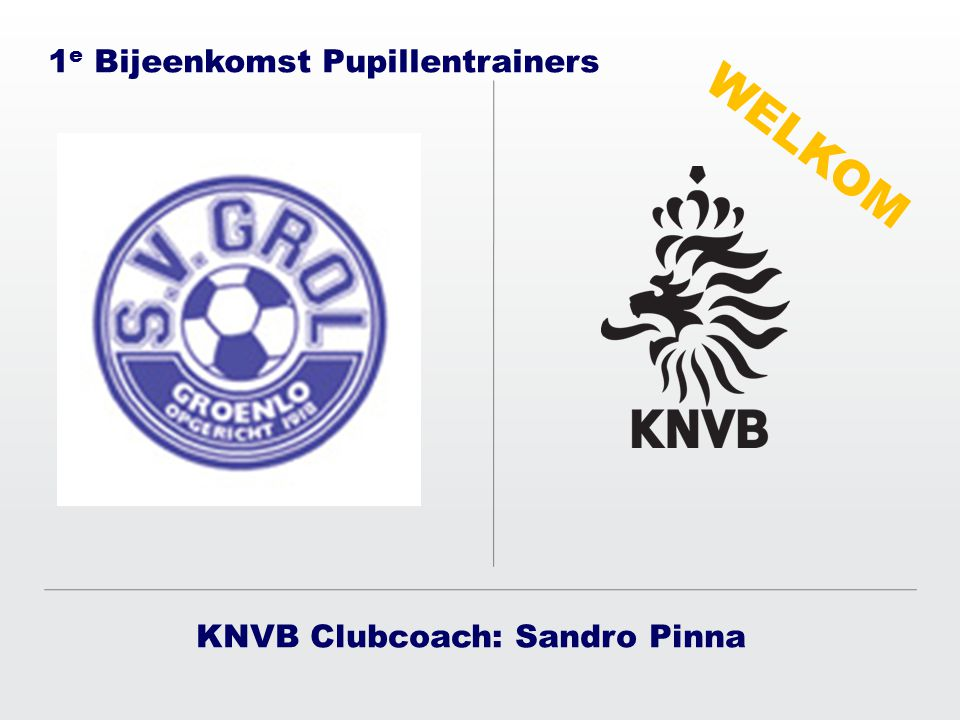 KNVB Clubcoach: Sandro Pinna