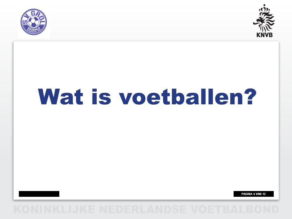 Wat is voetballen