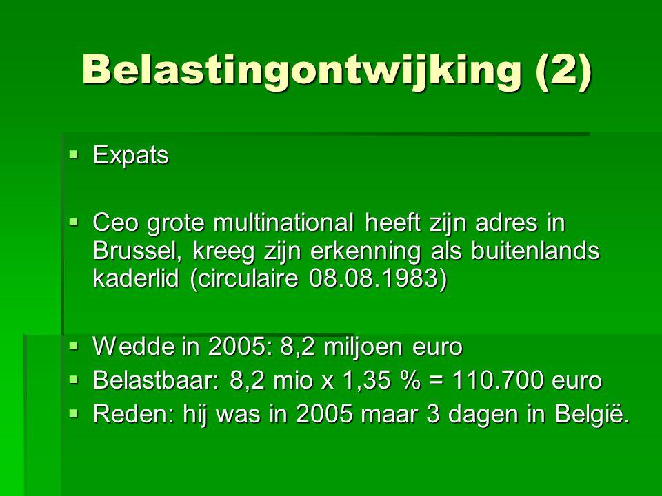Belastingontwijking (2)