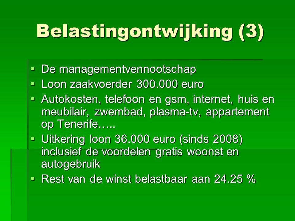 Belastingontwijking (3)