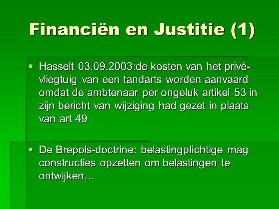Financiën en Justitie (1)