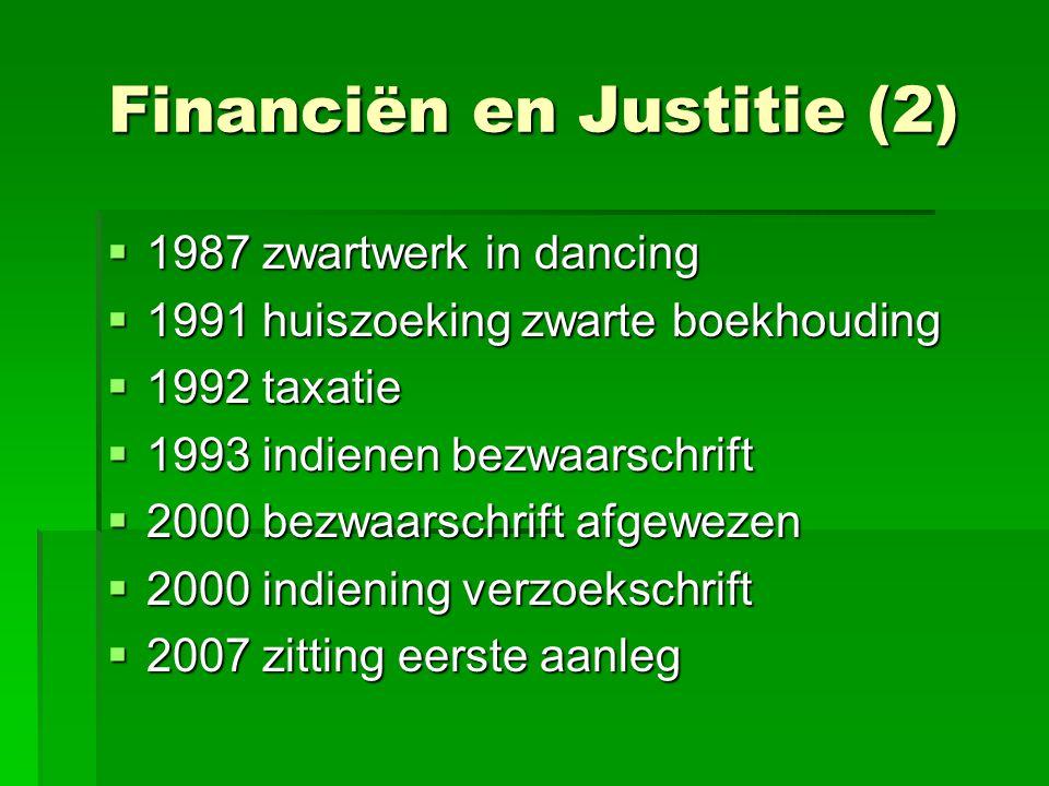 Financiën en Justitie (2)