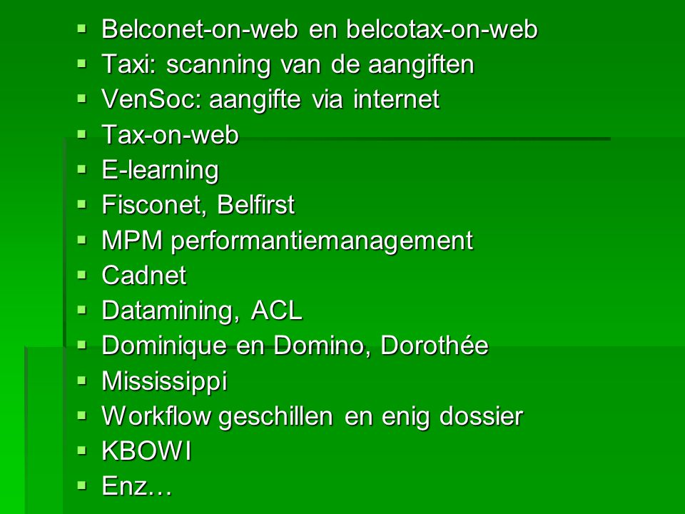 Belconet-on-web en belcotax-on-web
