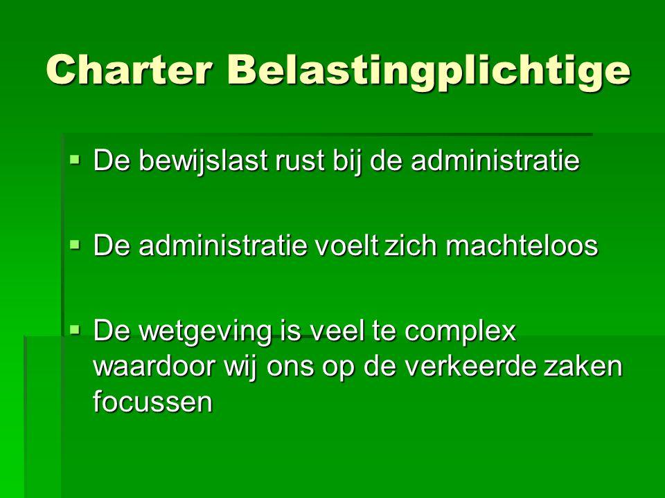 Charter Belastingplichtige