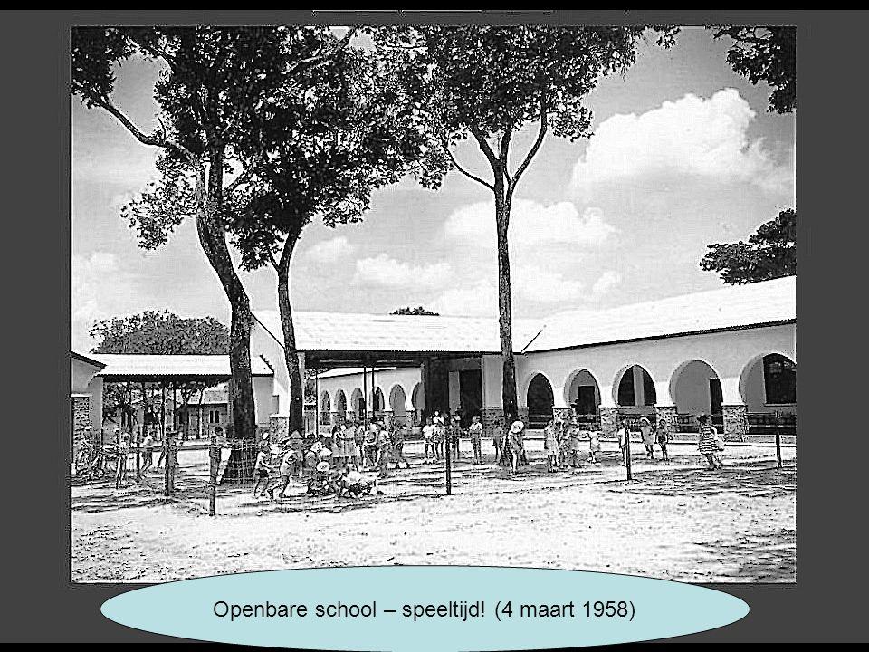 Openbare school – speeltijd! (4 maart 1958)