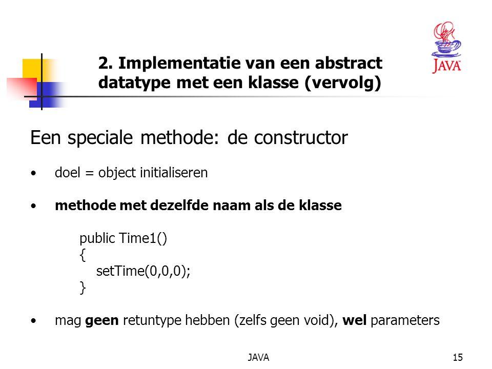 2. Implementatie van een abstract datatype met een klasse (vervolg)