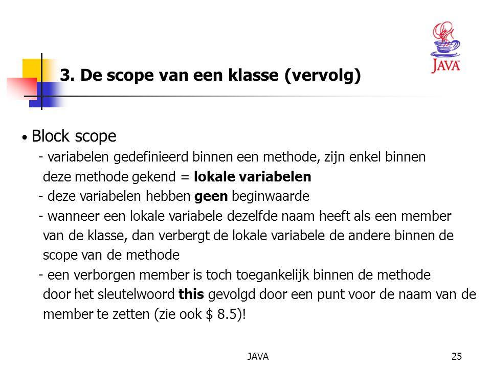 3. De scope van een klasse (vervolg)
