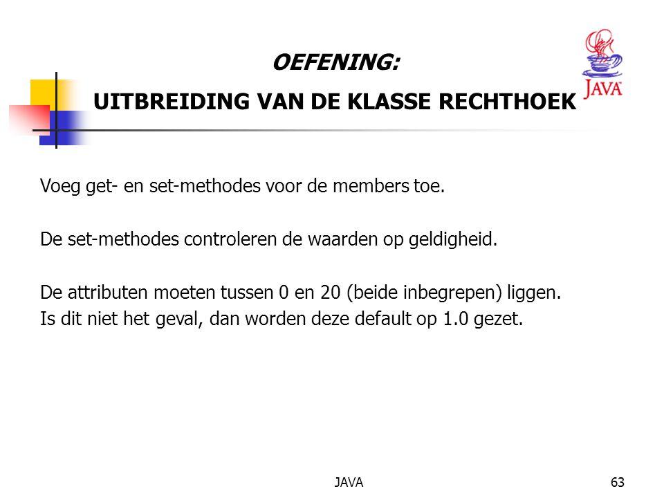 UITBREIDING VAN DE KLASSE RECHTHOEK