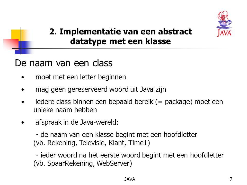 2. Implementatie van een abstract datatype met een klasse