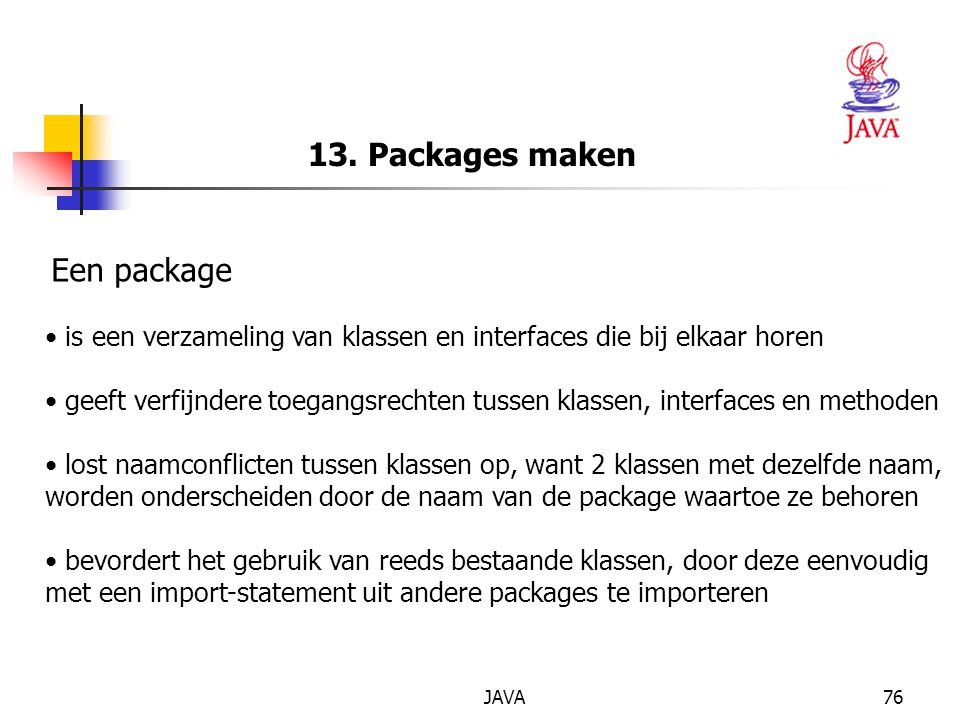 13. Packages maken Een package
