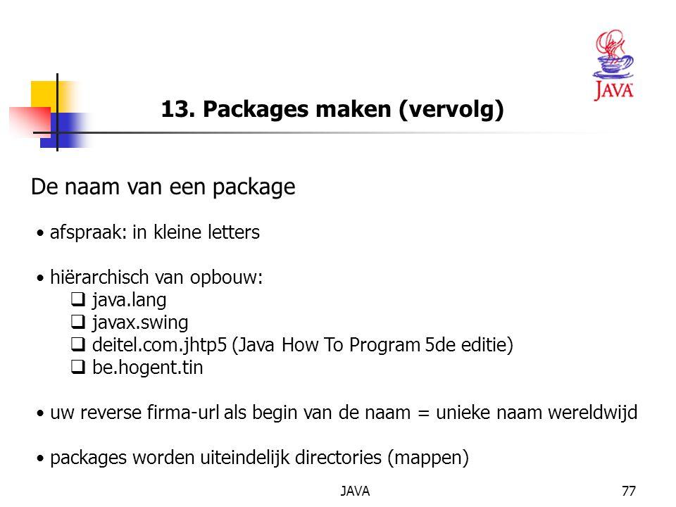 13. Packages maken (vervolg)