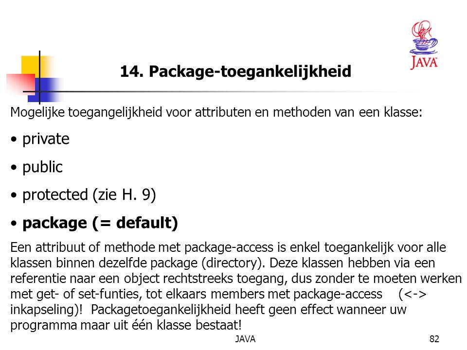 14. Package-toegankelijkheid