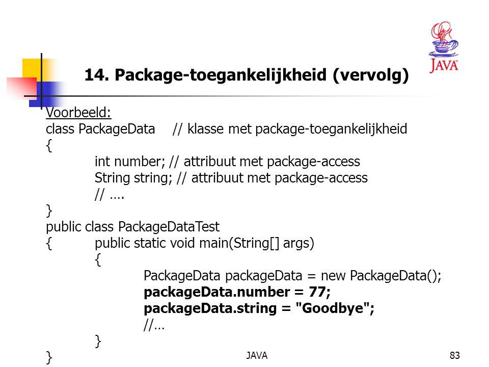 14. Package-toegankelijkheid (vervolg)