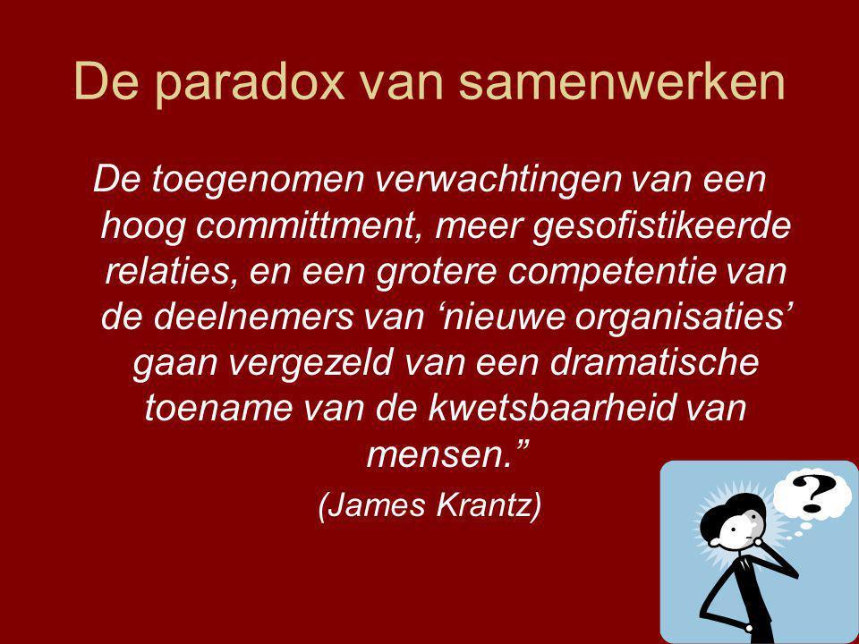 De paradox van samenwerken