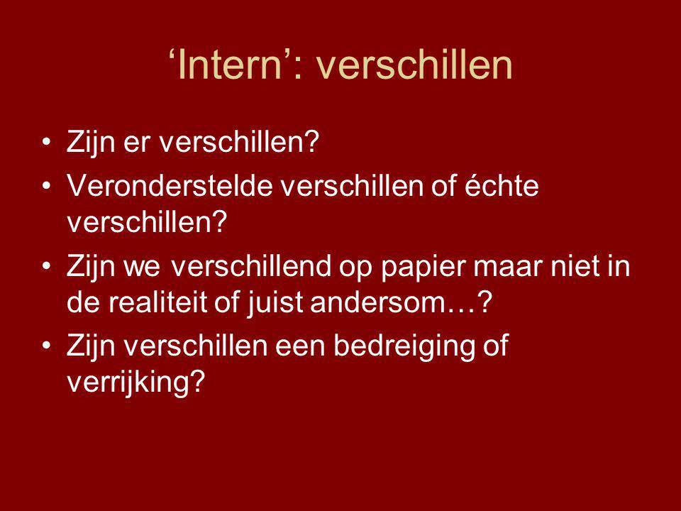 'Intern': verschillen