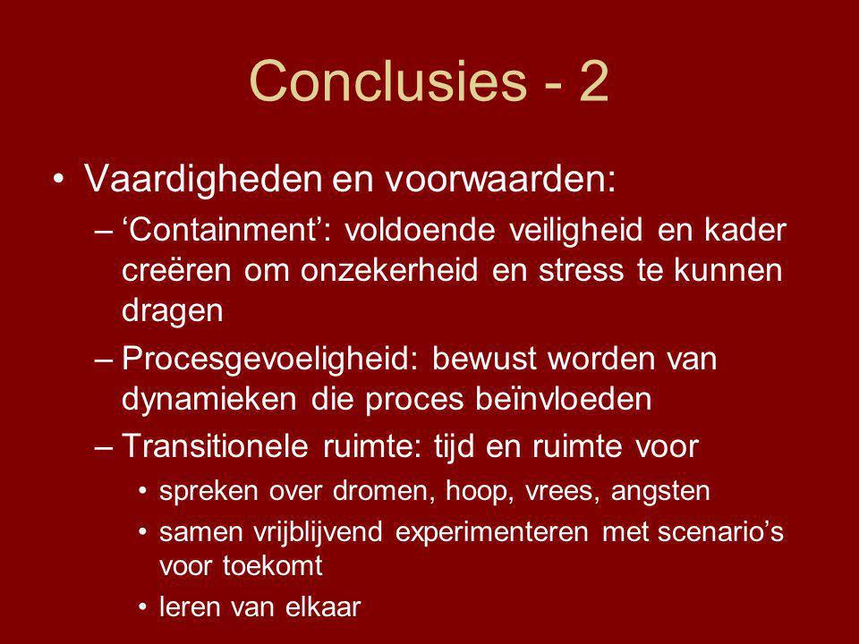 Conclusies - 2 Vaardigheden en voorwaarden: