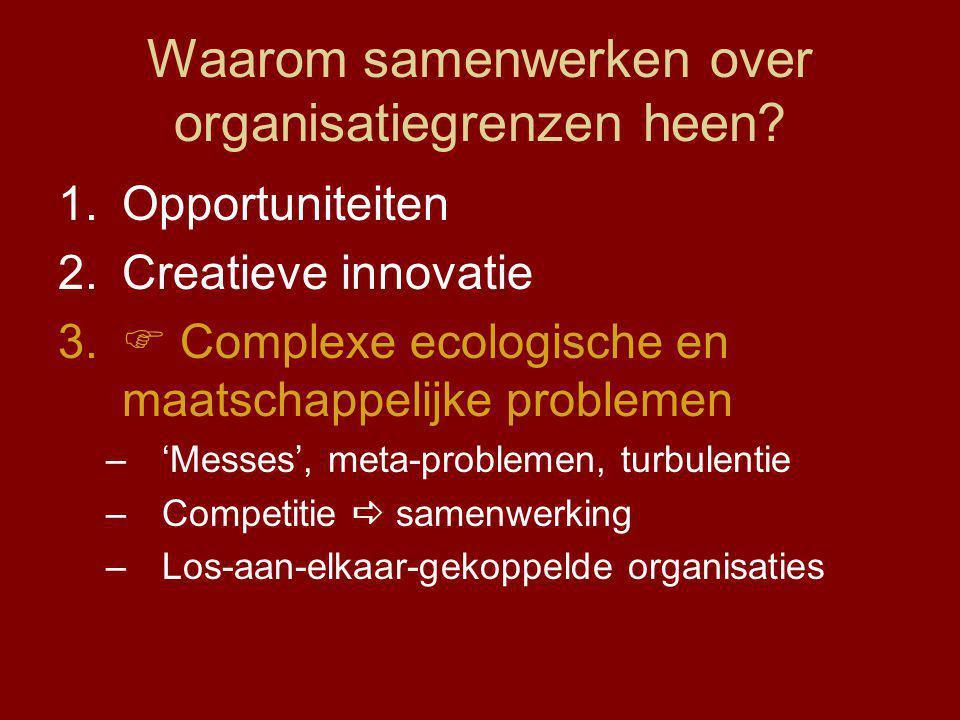 Waarom samenwerken over organisatiegrenzen heen