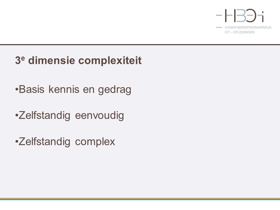 3e dimensie complexiteit