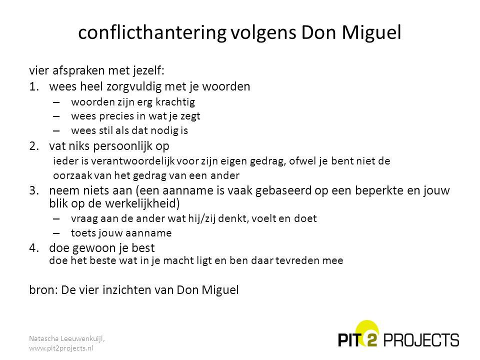 conflicthantering volgens Don Miguel
