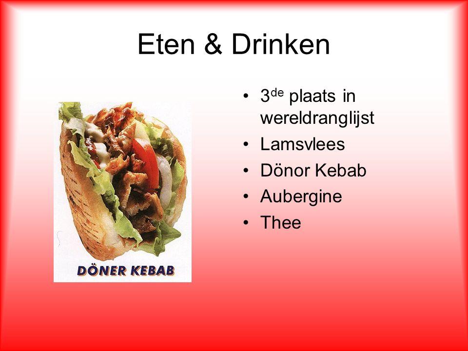 Eten & Drinken 3de plaats in wereldranglijst Lamsvlees Dönor Kebab