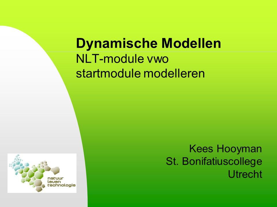 Dynamische Modellen NLT-module vwo startmodule modelleren