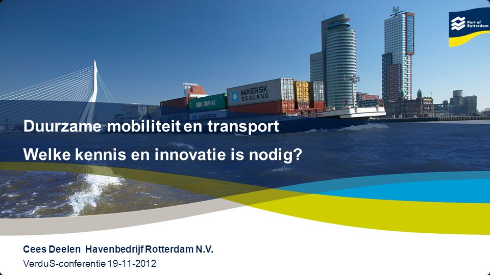 Duurzame mobiliteit en transport