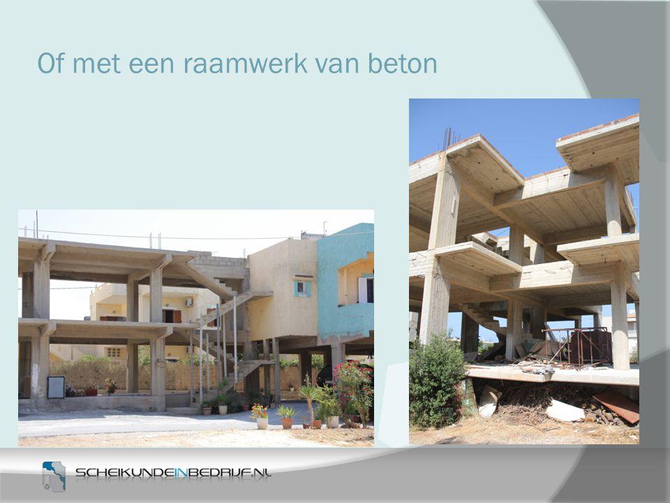 Of met een raamwerk van beton